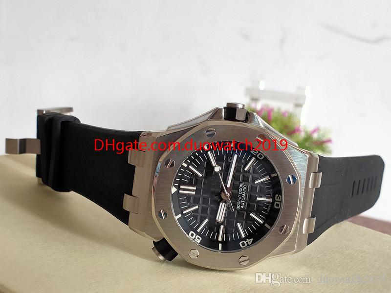 Mens Watches Top quality Wristwatches 42mm Offshore Diver 15710 15710ST.OO.A002CA.01 Rubber Bands Transparent Mechanical Automatic