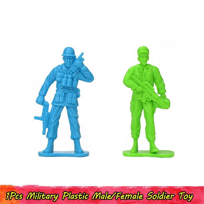 1pcs Soldat en plastique militaire modèle de jouet pour les enfants Adolescents Adultes bricolage US Army Troop Figure Modern War Scène Anniversaire Jouets Cadeaux Décoration