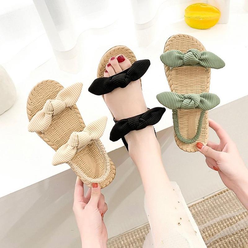 Le donne sandali di paglia corda di Donna Sandali Outdoor piano casuale pantofole coreana Leggero scarpe comode Beach
