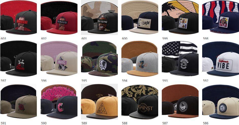 Шапки Snapbacks Cayler Sons бренд хип-хоп Snapbacks регулируемые шляпы Мужские кепки Женские бейсболки Высочайшее качество Дизайн кепка Snapback Fashion Accessor