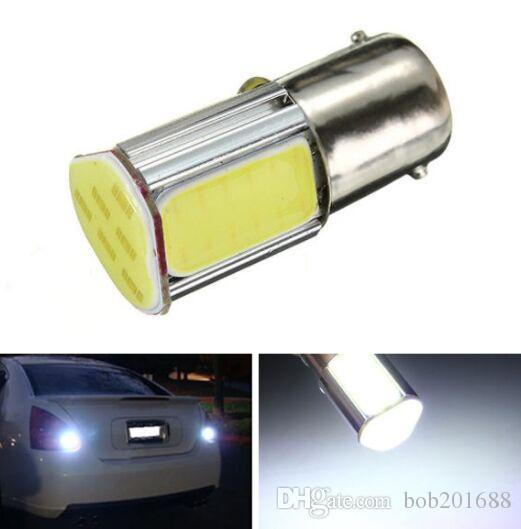 BA15S 1156 P21W 382 DC12V 5W 500LM Bianco 4COB LED Car Turn Lights retro retromarcia lampadina