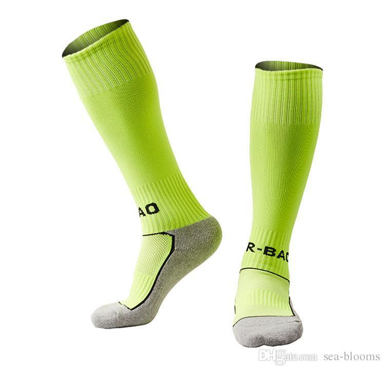 Children Boys Girl Fashion Football Socks Towel Bottom Good Breathability Kids Sports Long Socks 10 Styles High Quality G496Q
