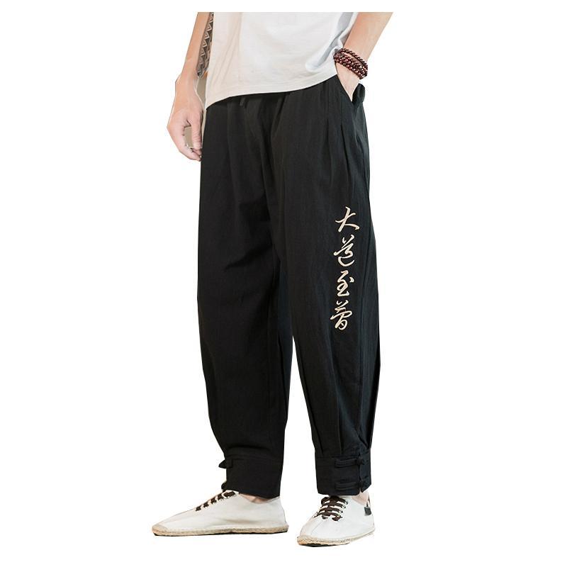 MOGU Shop 2020 der neuen Männer-Harem-Hosen Japanische beiläufige Baumwollwäsche Hosen Mode Mann Jogger Hosen Chinese Baggy 3 Farben