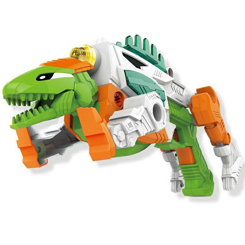 DIY Light Sound dinosaur toys kids gun wholesale block bricks toys gun roaring form Children block toys