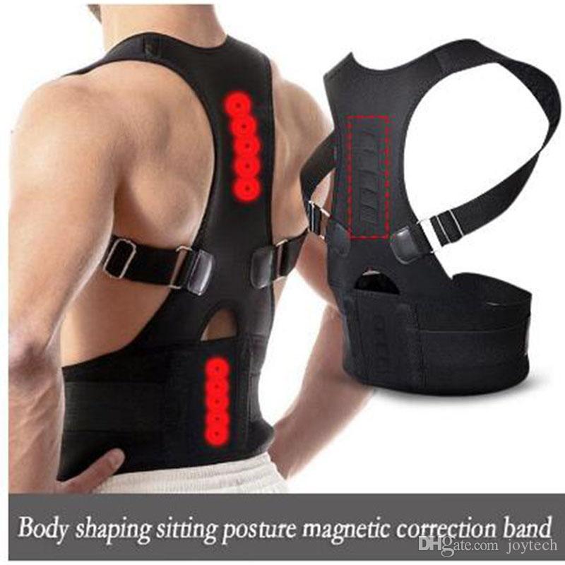 Wholsale del correttore di posizione terapia magnetica del gancio posteriore della spalla della cinghia di sostegno per gli uomini donne Bretelle Supporta la cinghia della spalla Postura