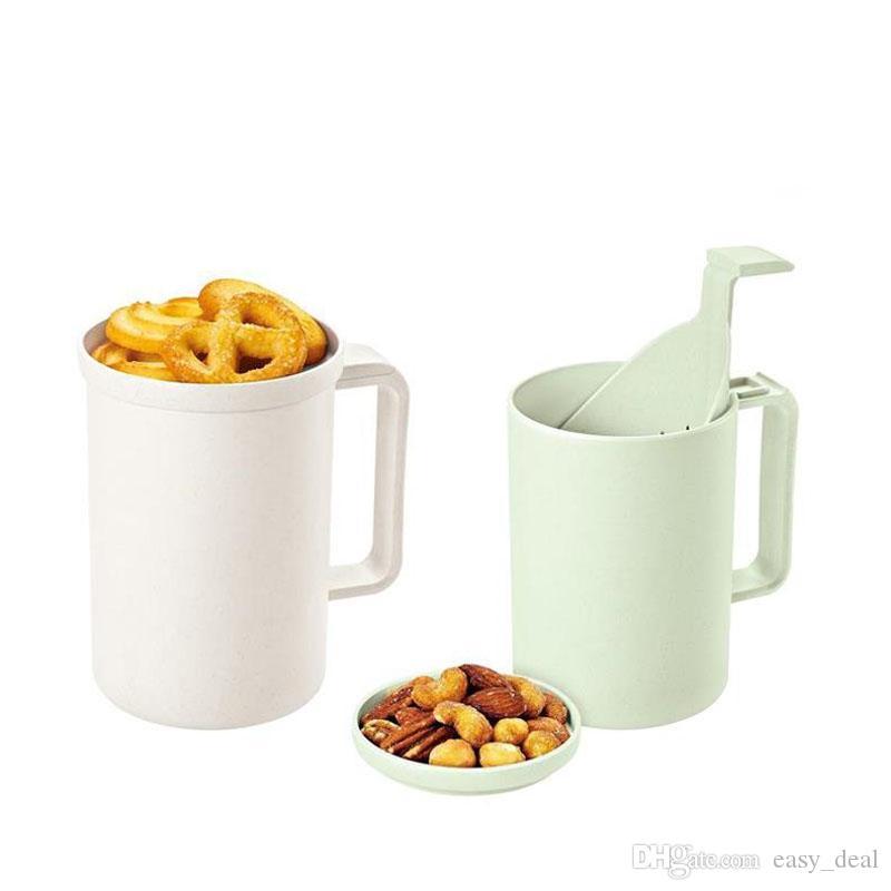 Bambusfaser mit Deckel Milk Cups Haushalt Große Kapazität Frühstück Cup Paar Kaffeetasse, Teetasse ZC1497
