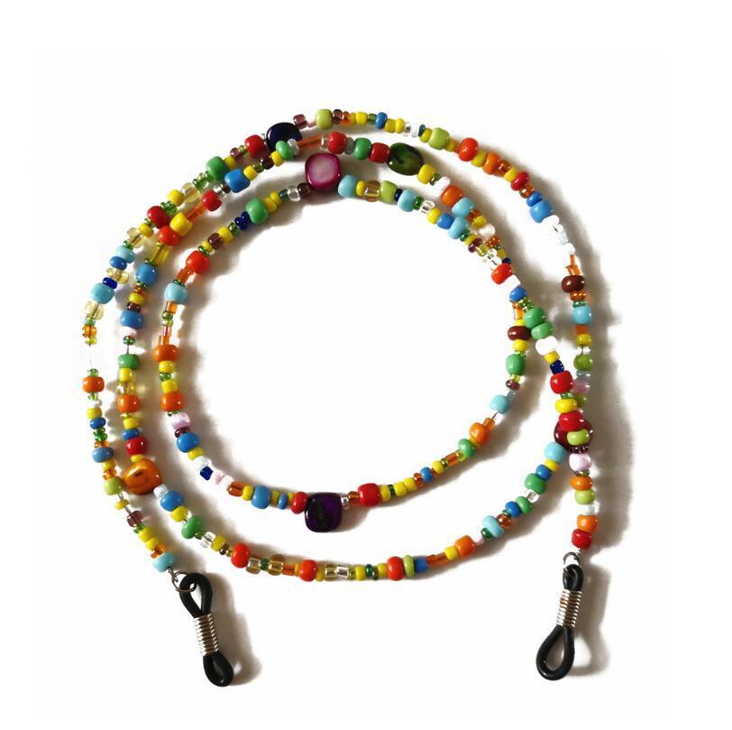 Fashion Womens glass Beaded Eyeglass Chains Sunglasses Reading Glasses Chain Eyewears Cord Holder neck strap Rope