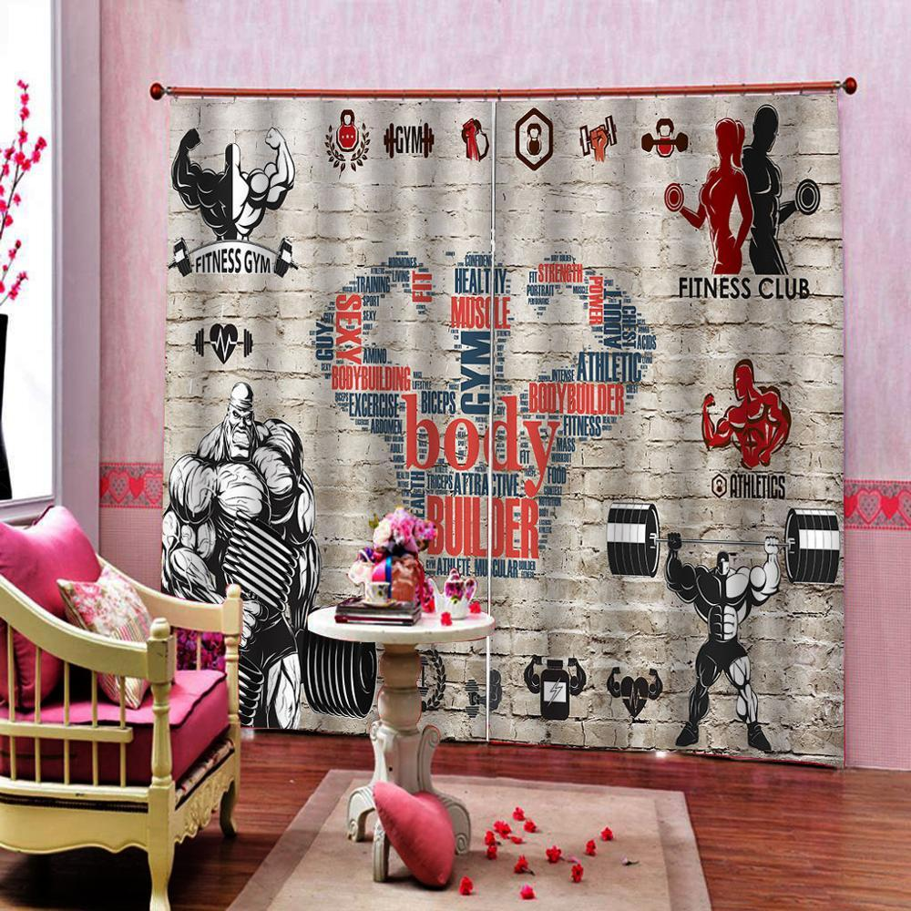 2020 Birck Curtains Sport Drapes Living Room Bedroom Decor 2 Panels Hookswindow Curtains From Georgely 128 04 Dhgate Com