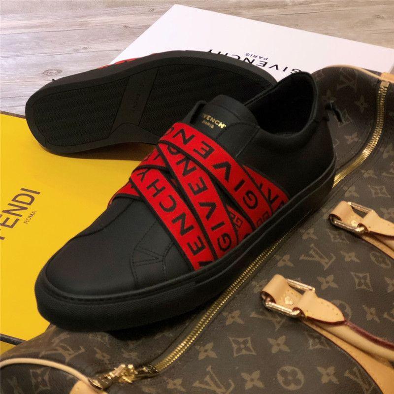 Fashion Trend Luxury Designer Uomo Scarpe Cintura in pelle rossa rossa Scarpe da uomo per il tempo libero Lace Up Popolare Hip Hop Comfort da strada Sneakers Taglia 38-43