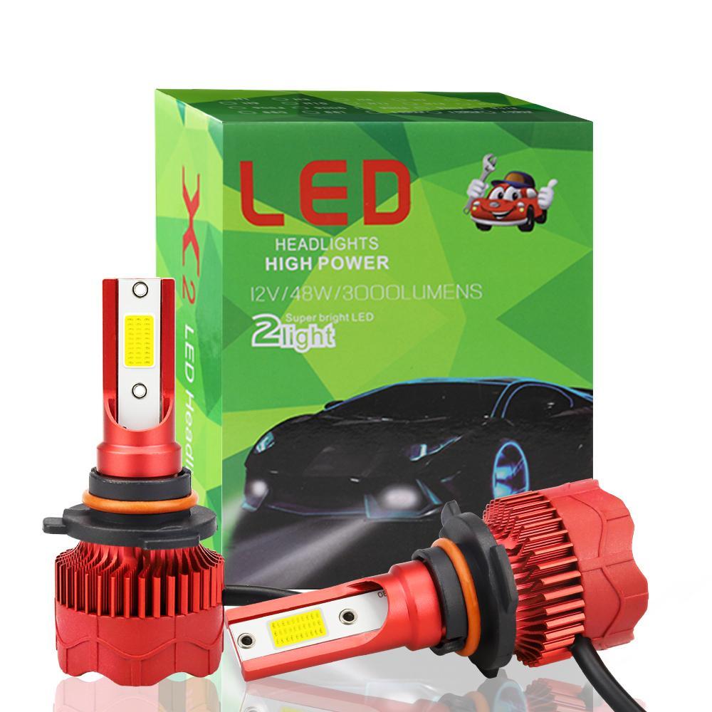 Winsun 1 par Led farol do carro H4 H7 H1 H3 H8 H11Bulbs 6000K 50W Luzes LED do carro para o auto farol 12V Farol COB Luz