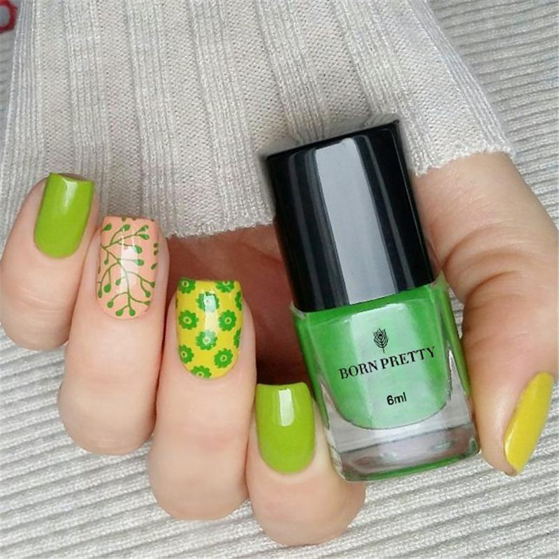 25 Colors BORN PRETTY 6ml Nail Stamping Polish Lacquer Manicure Art Vernis A Ongle Varnish Thinner Nail Latex Art Vernis