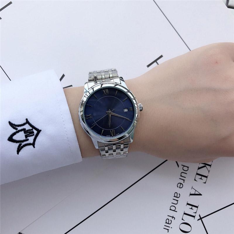 New Casual Ladies Automatic Watches for Luxury Silver Stainless Case Multicolor selection wristwatch with Date Clock Simple and Elegant