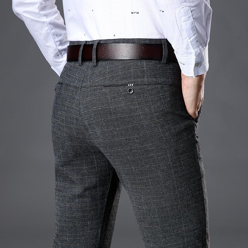 Pantaloni casual Stretch Stripe uomini diritto Pantaloni Harem Affari pantaloni da uomo Four Seasons di alta qualità degli uomini