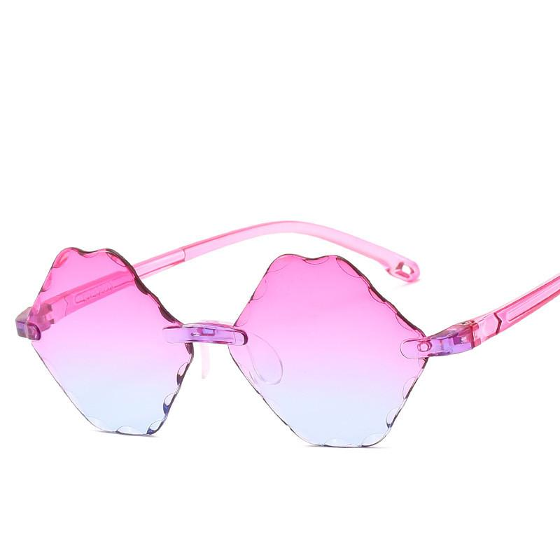 2020 Óculos de Sol Gradiente de plástico sem aro Crianças ÓCULOS DE CRIANÇA vidros de sol punk do vintage das meninas Meninos UV400 Óculos de Sol