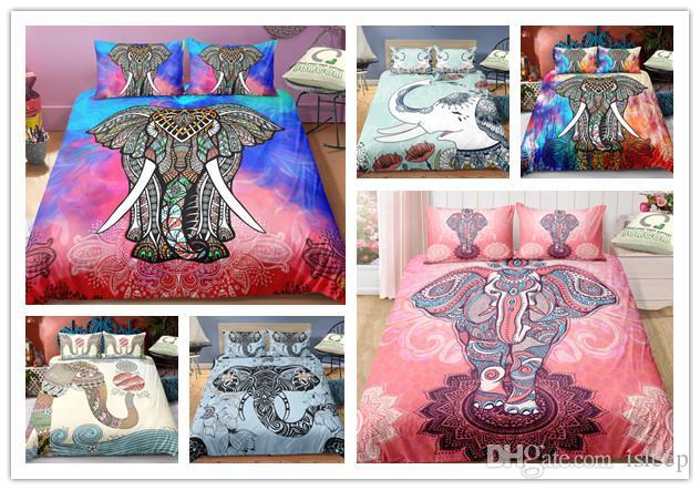 3D Imprimé Elephant Motif 2/3 pièces Literie Avec Taie pour toutes les tailles