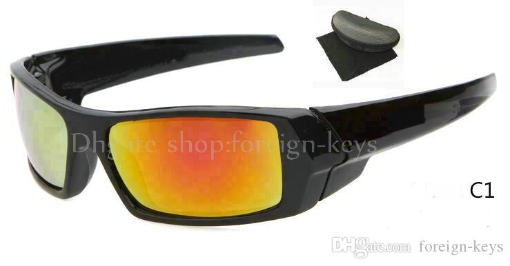 새로운 핫 스타일 선글라스 남자의 블랙 프레임 선글래스 야외 스포츠 Googel 안경 빠른 배송 케이스.