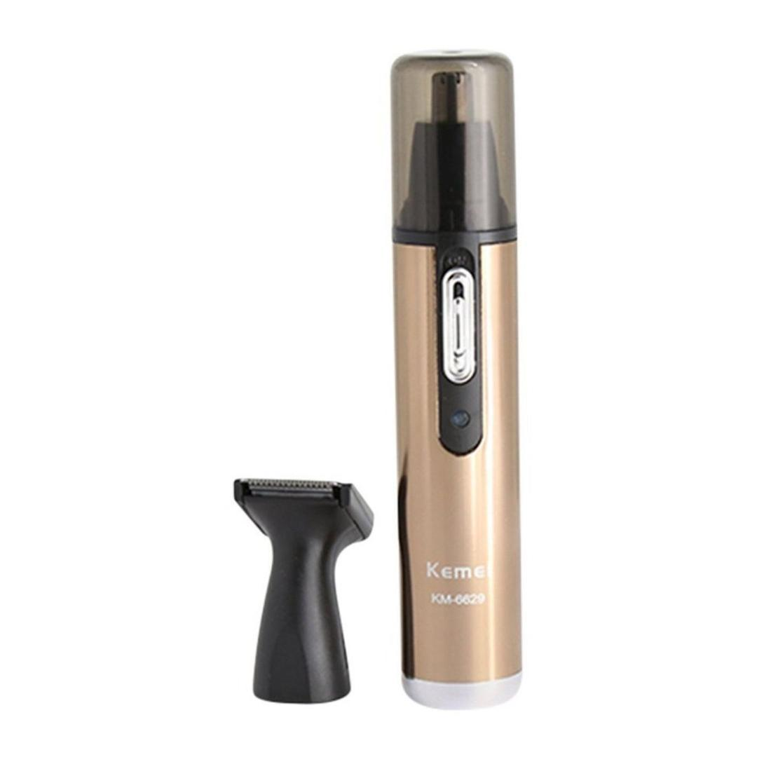 Kemei Nose Trimmer Costeletas Pêlos Trimmer Com Micro-Groomer km-6629 Ouro