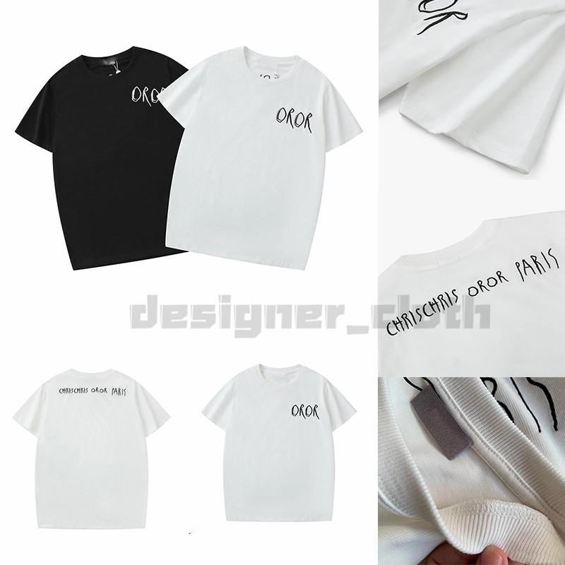 기독교 패션 캐주얼 T 셔츠 남성 디자이너 T 셔츠 남자 파리 프랑스 거리 반바지 슬리브 의류 티셔츠 아시아 크기 S-XXL 망