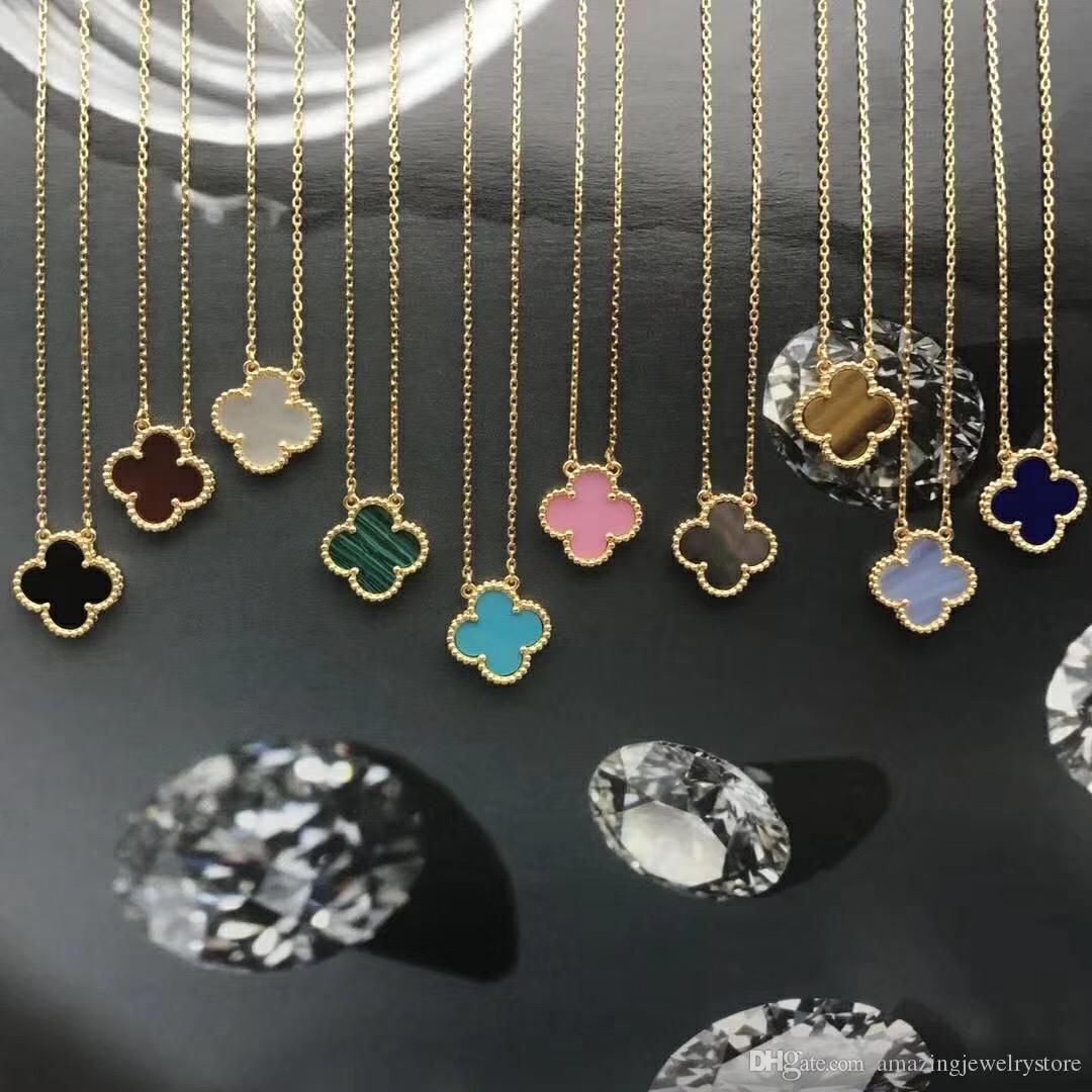 1,5 centimetri collana pendente fiore con pietra naturale e le coperture per le donne di nozze gioielli regalo collana libera di trasporto PS6050