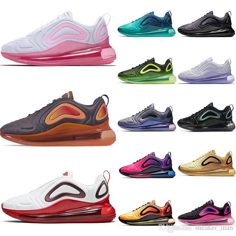 Compre Nike Air Max 720 Air 720 Zapatillas 720s De Tenis Rosadas Zapatillas  Deportivas Sneaker Púrpuras Zapatos WMNS Hombre Mujer Deporte Diseñador A  ...