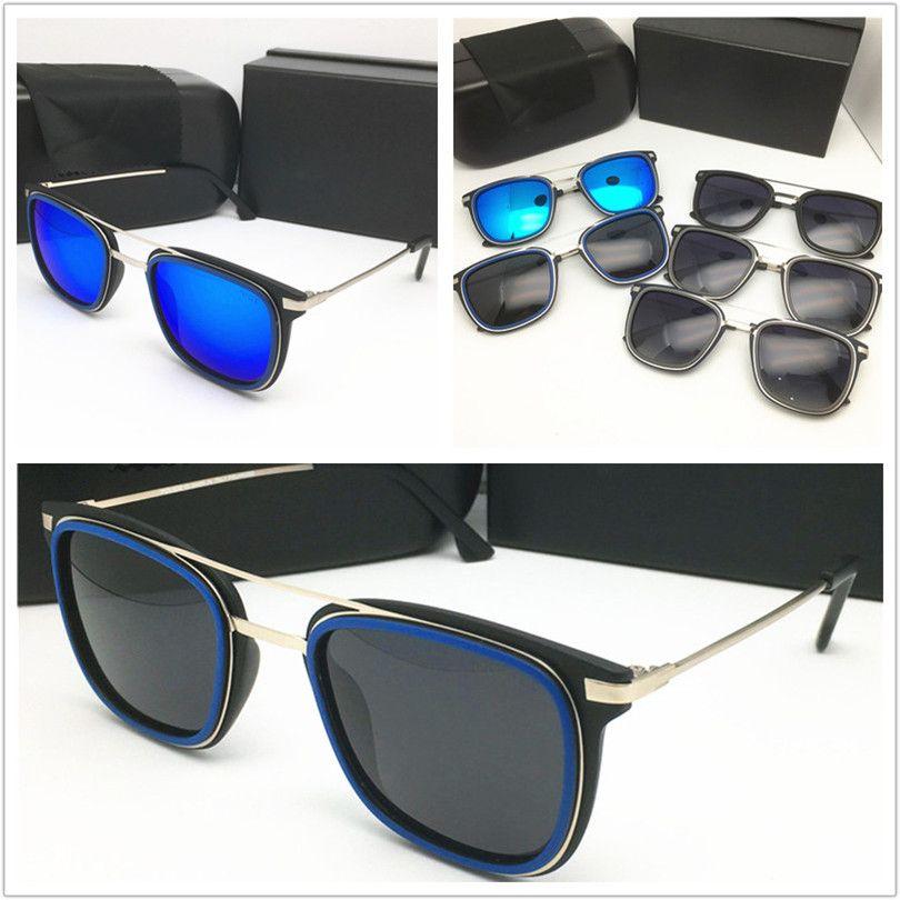 موضة جديدة حملق فاخر مصمم معدن نظارات شمس رجل إمرأة العلامة التجارية الشمس الكلاسيكية نظارات ذات جودة عالية مربع الذهب في الهواء الطلق الاستقطاب النظارات الشمسية