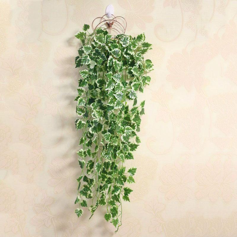 Leaf Artificial Flower Artificial Plants Home Wedding Decoration Green Plant Ivy Plastic Garland Vine flowers wall