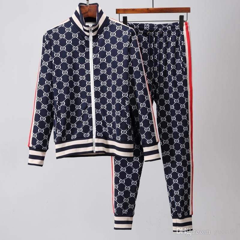 Moda para hombre de lujo diseñador chándales sudaderas juegos del juego de deportes de los hombres capas de las chaquetas de las mujeres de los hombres de la medusa de deporte del chándal Set