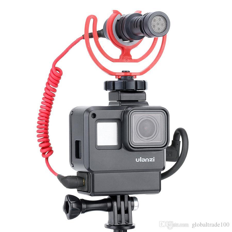watch more photos best deals on Acheter Cas ULANZI V2 Vlog Accessoires Pour GoPro Hero 7 6 5 Boîtier En  Plastique Avec Extension De Port De Microphone Montage Sur Sabot Froid ...