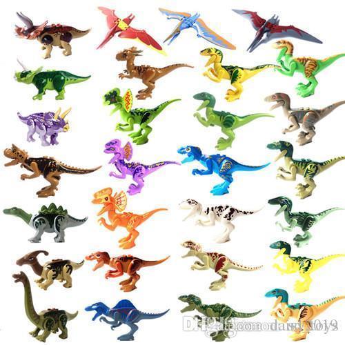 YG77001 77021 307 28pcs mucho ladrillos módulo dinosaurio pterosaurio Indomirus T-Rex Triceratops ladrillo juguetes del bebé regalo de los niños