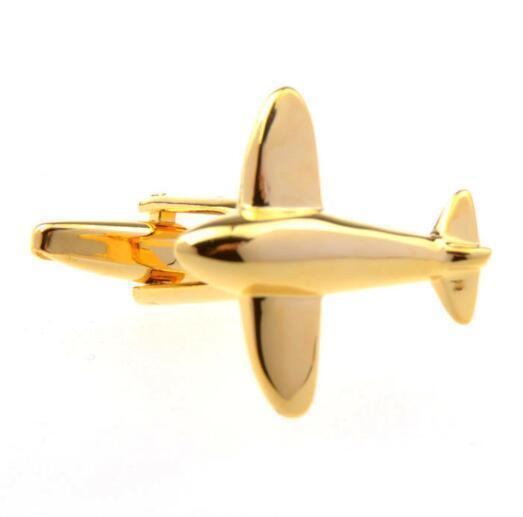 10pairs / lot ouro Plane Propeller Abotoaduras Vintage Prata Hélice de punho punho da camisa Botão jóias masculinas