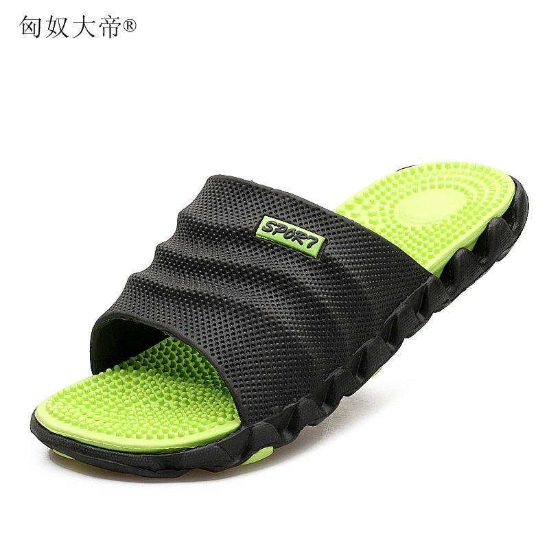 2019 New Summer Cool Water Tongs Homme de haute qualité doux massage plage chaussons, mode homme Chaussures Casual S20331