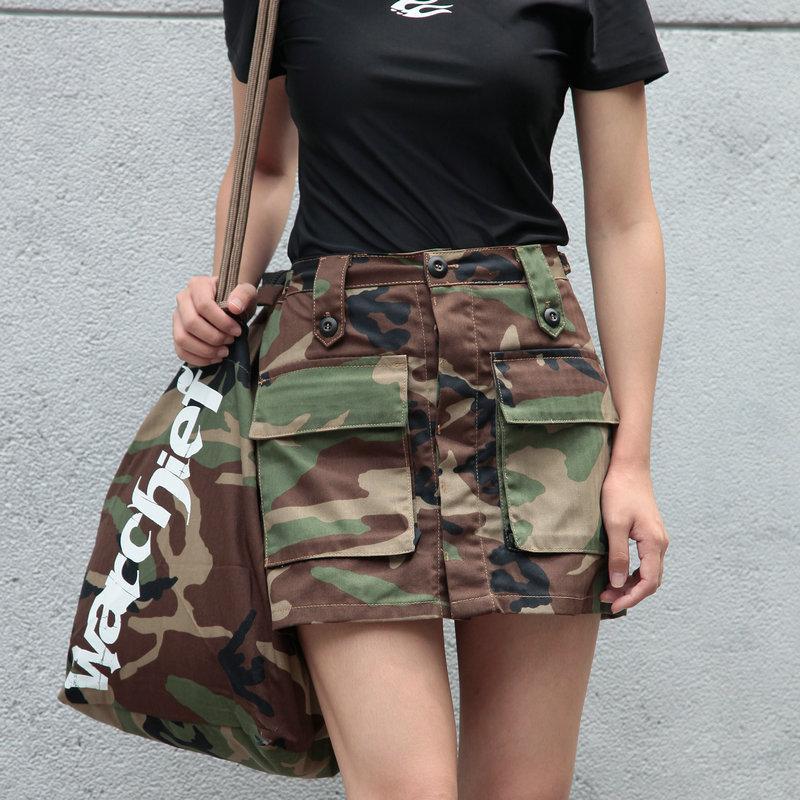 Nuova femmina Camouflage A-gonne Tactical Combat Stripe Shorts Summer Donne Campeggio all'aperto Camping Escursionismo Abito corto