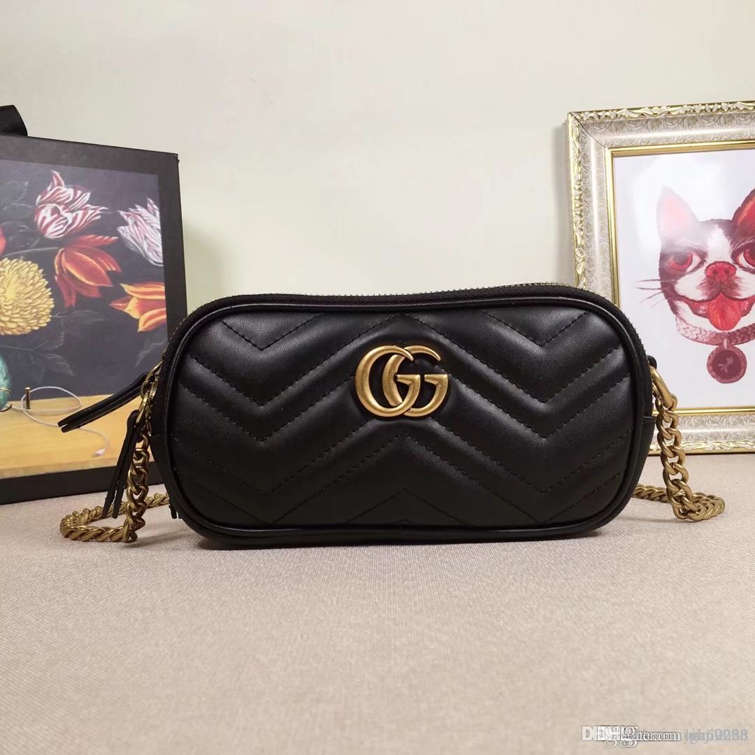 nueva manera de la venta bolsos de las mujeres de la vendimia bolsas Diseñadores carpetas de los bolsos de las mujeres de la cadena del bolso de cuero Crossbody y bolsas de hombro 546581