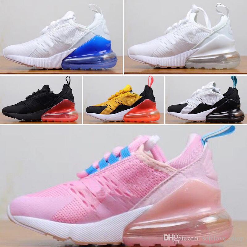 Nike air max 270 27c 2019 جودة عالية طفل أطفال الاحذية 27 أحذية ثابت gid chaussure دي الرياضة صب الشقي الفتيان الفتيات عارضة المدربين