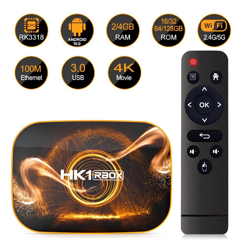 HK1 Box R1 Smart TV Box Android 10 4GB 64GB 32GB Rockchip RK3318 4K Wifi Netflix Set top Box Media Player 2GB16GB android10