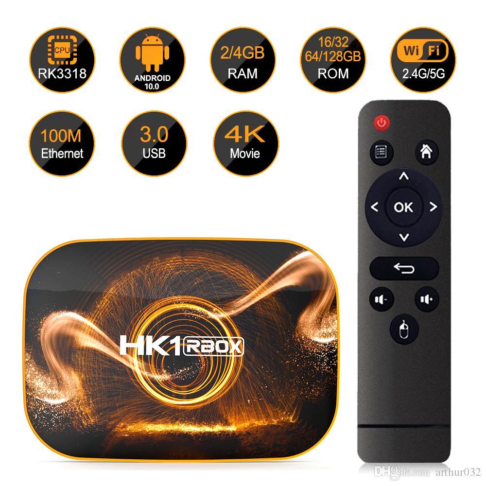 HK1 Box R1 Smart TV Box Android 10 4GB 64GB 32GB Rockchip RK3318 4K Wifi Set top Box Media Player 2GB16GB android10