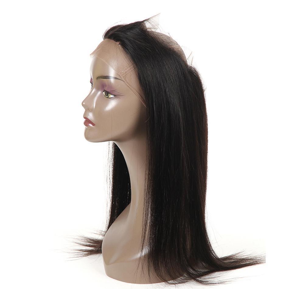 360 Dentelle Frontal Fermeture droite Frontal Pré plumé fermeture Mongolie Remy humaine Fermeture cheveux libre Partie 360 Frontal