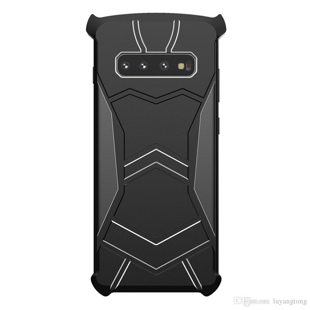 S10 magnétique Heavy Metal Coque Duty Case armure pour Samsung Galaxy S10 + S10 Couverture arrière de cas plus la couverture S10e Phone Case fundas s10plus