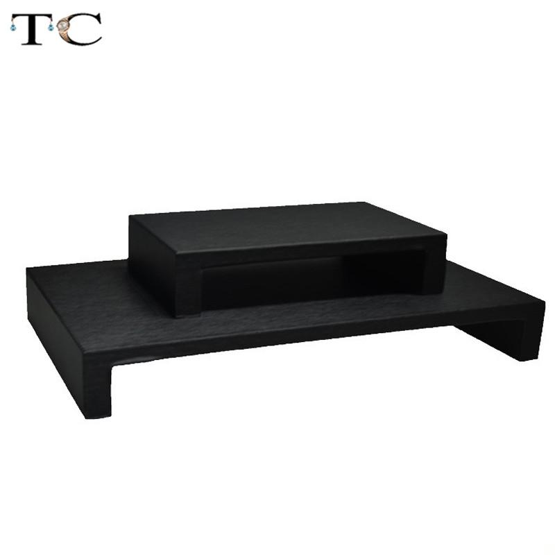 High Quality PU Leather Display Stand for Jewelry Bracelet Watch Stands Necklace Holder Tray Jewelry Showcases Organizer