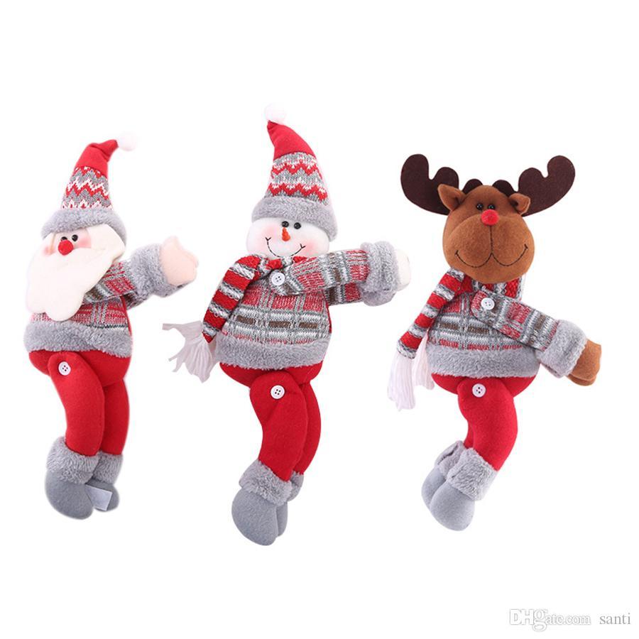 Clips de Navidad de la cortina de la hebilla de la historieta de la cortina de Tieback Window Screens hebillas Inicio Decoración de Navidad Decoración de JK1910