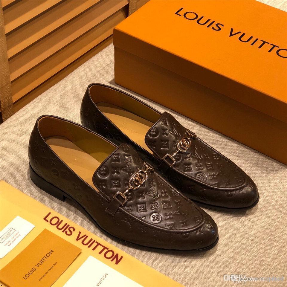 20ss İlkbahar Sonbahar Erkekler Örgün Düğün Ayakkabı Lüks Erkekler İş Elbise ayakkabı erkekler Loafers Pointy büyük beden 38-45 YETC3 Ayakkabı