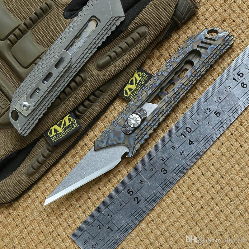 DICORIA MG Original Paper cutter Cuttin knife Titanium Handle Olfa stainless steel blade Pruning outdoor camping Tactical knives EDC tools