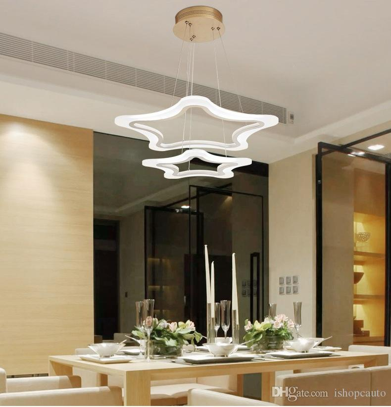 Modern Acrylic Led Pendant Light Fixtures With Remote Control Kitchen  Dining Living Room Hanging Rope Lamp Home Lighting 220V Le81 Multi Pendant  Light ...