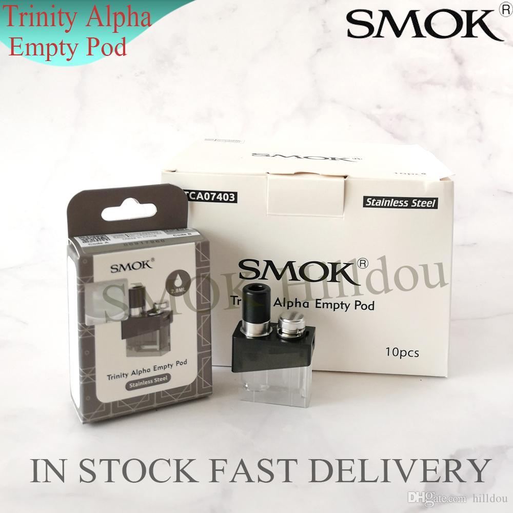 SMOK Trinity Alpha Pod Cartridge 2.8 ml Cartrige Vazio para Trindade Alpha Bateria Compacto com Nord Mesh Nord MTL Bobina 100% Original