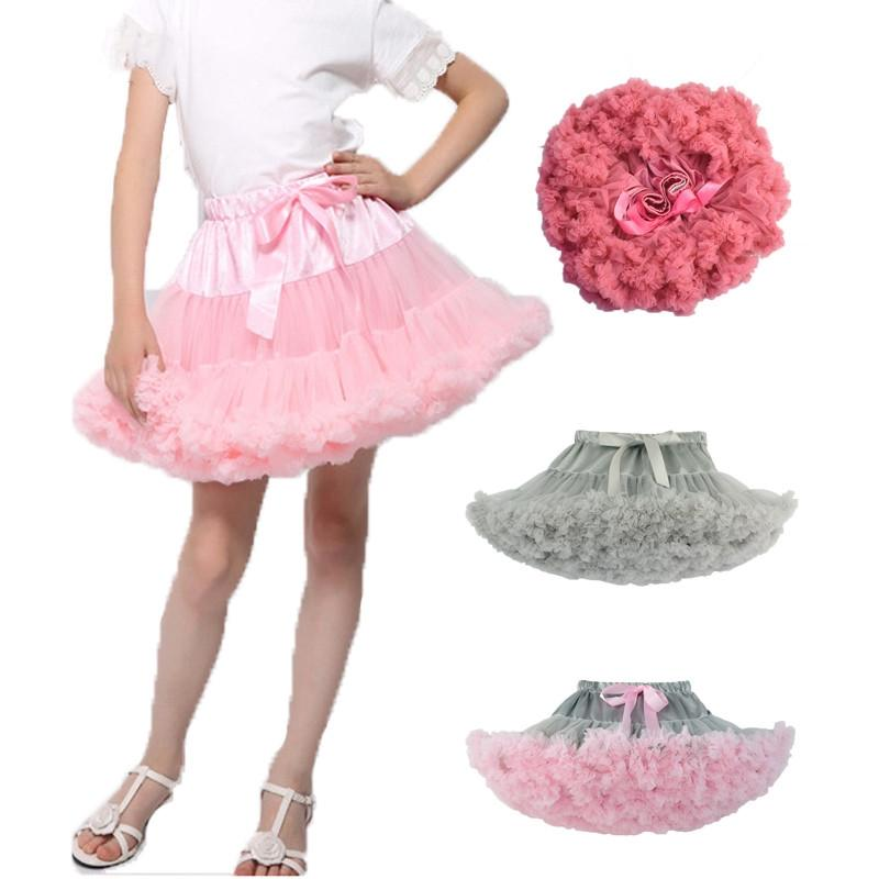 Baby Girls Tutu Skirt Fluffy Ballet Princess Tulle Party Dance Wedding Tutu Skirts For Girls Kids Clothing k1