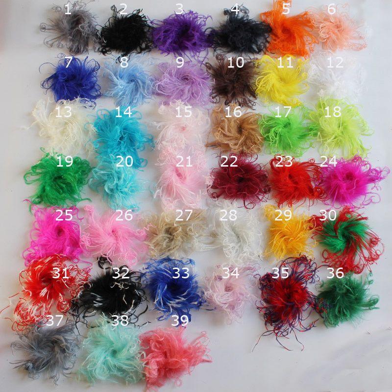 """100шт смешать цвет 4 """" мода вьющиеся страус слоеного перо для ребенка перо заколки для волос оголовье"""