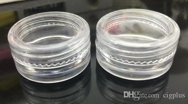 Clear color plastic Container Jars Dab For Concentrate Wax 5 ml Non-stick Bustomized wax Oil Container Clear Mini