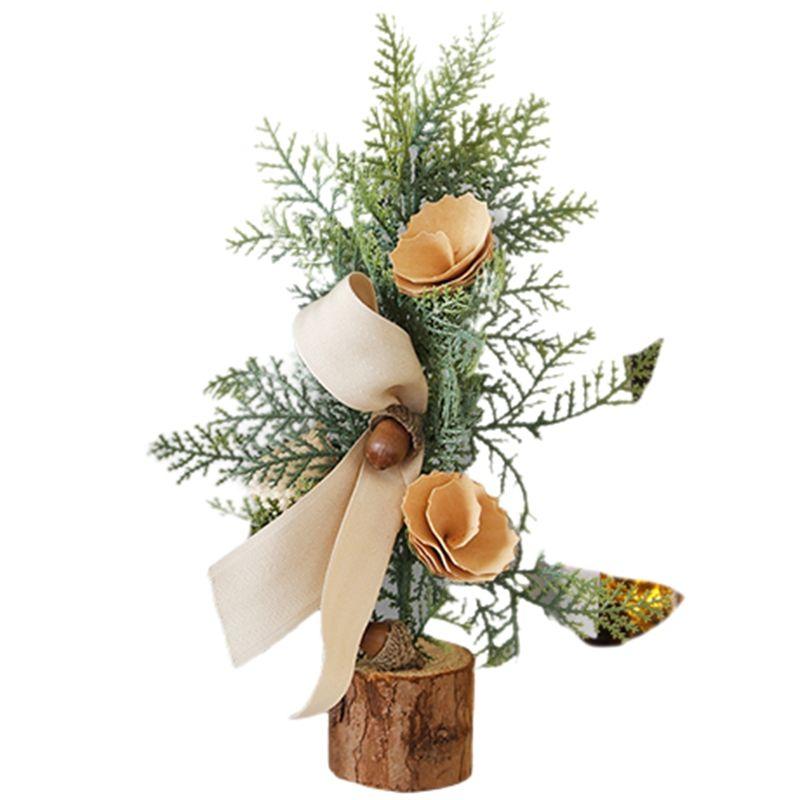 1Pcs Decorazioni di natale Mini piccolo albero di Natale Finestra tavolino della decorazione del pupazzo di neve Colorful