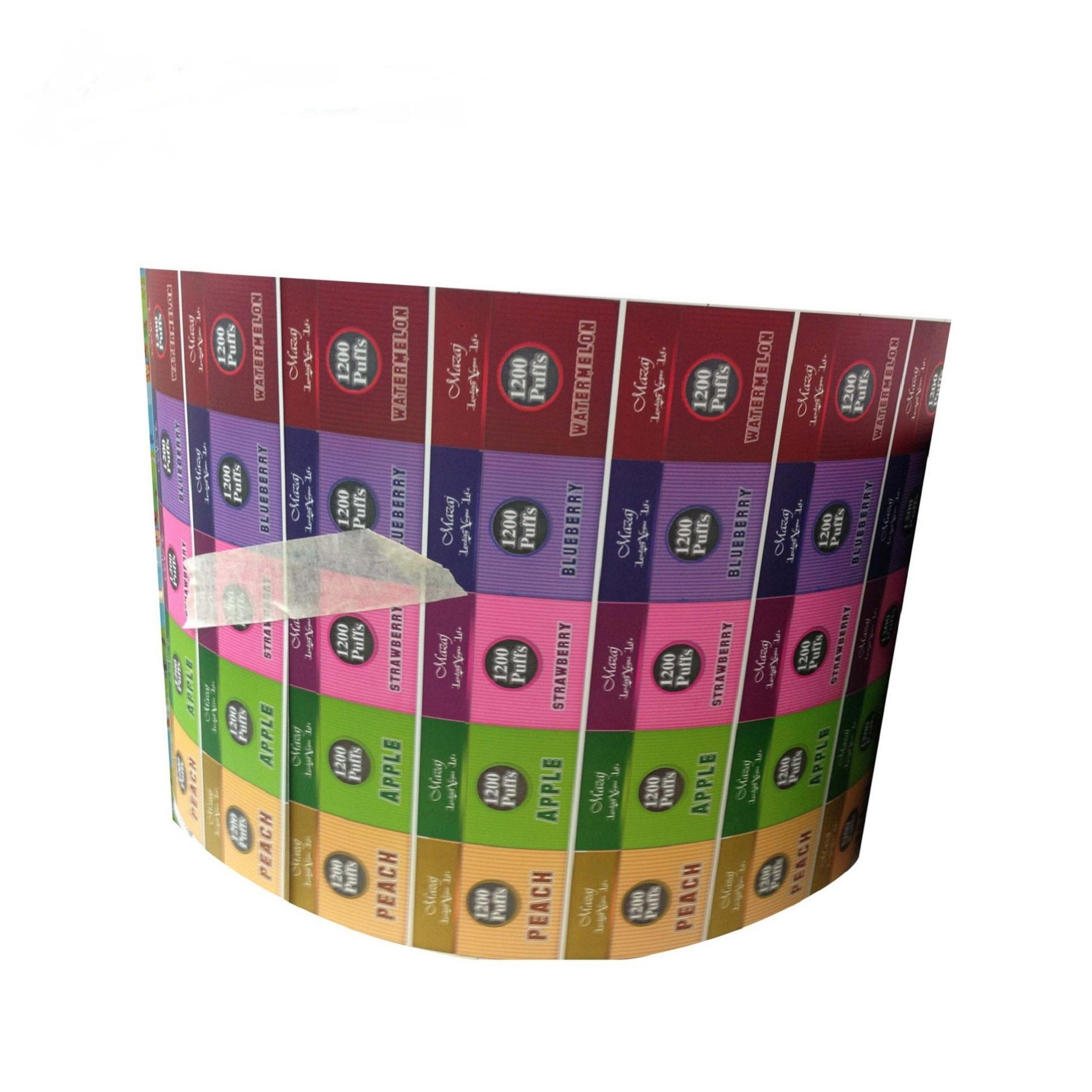 다채로운 인쇄 라벨, 사용자 정의 자기 접착제 롤 레이블 및 스티커 도매