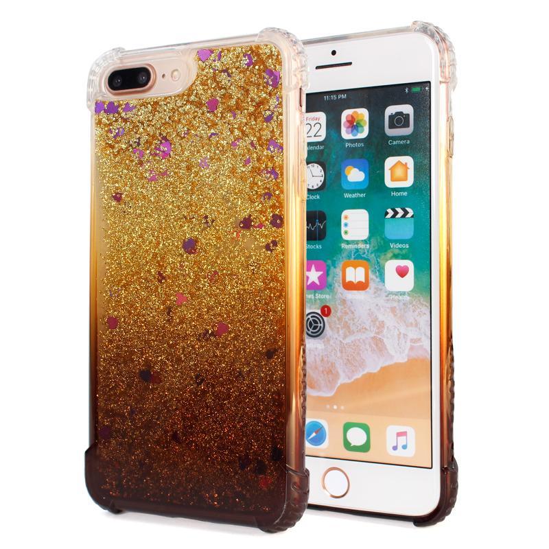 Quicksand di caso per l'iphone x iphone 8 più glitter copertura trasparente liquido per Samsung Galaxy Note 8 S7 S7 bordo della copertura del telefono D